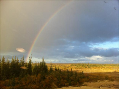 Rainbow over the Hudson Bay