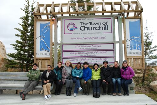 Visiting the town of Churchill.