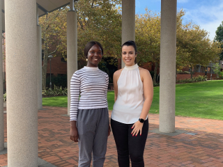 2019 Bev Corless scholarship recipients Tomisin Adesanya and Taylor Donati