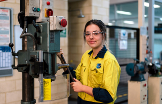 First-year electrical instrumentation apprentice Paige Calvert knows she has been given an invaluable opportunity at Alcoa.