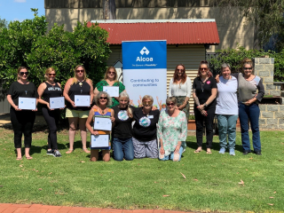 SWSF Co-founder Tanya Langford (pictured front) with some of the participants and mentors from the latest 15-week Trauma Recovery and Empowerment Program.
