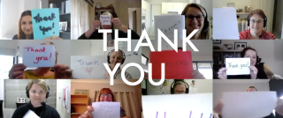EdConnect staff saying thank you to volunteers